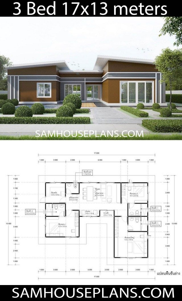 House Plans Idea 17x13 With 3 Bedrooms Sam House Plans House Plans House House Design
