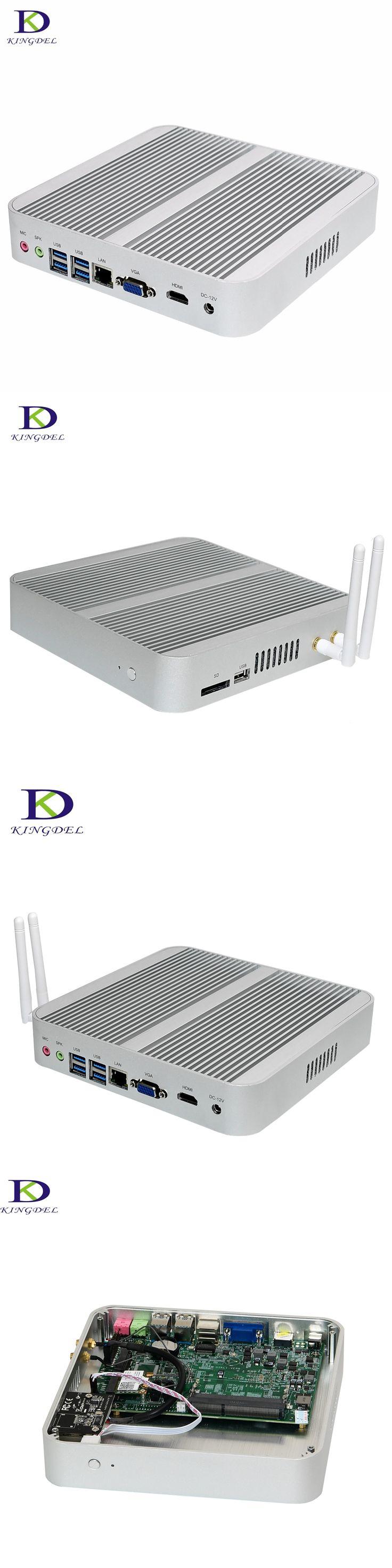 Big Promotion Intel Core i5 6260U Intel Iris Graphics 540 4*USB Fanless Mini PC Nuc computer 4MB Cache HTPC Mini Destop PC