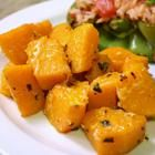 Garlicky Baked Butternut Squash.  We LOVE this.  I could eat the whole pan by myself.