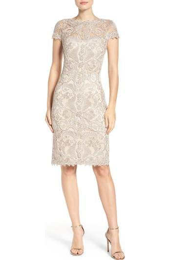 Free shipping and returns on Tadashi Shoji Illusion Yoke Gown (Regular & Petite) at Nordstrom.com. Lacy embroidery adds decadent power to this figure-skimming mesh gown.