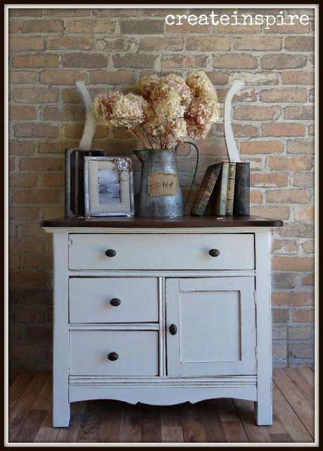 {createinspire}: Antique Wash Stand in Soft White