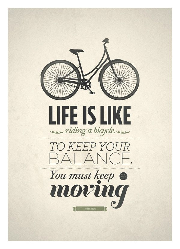Print & Poster / Life is like riding a bicycle