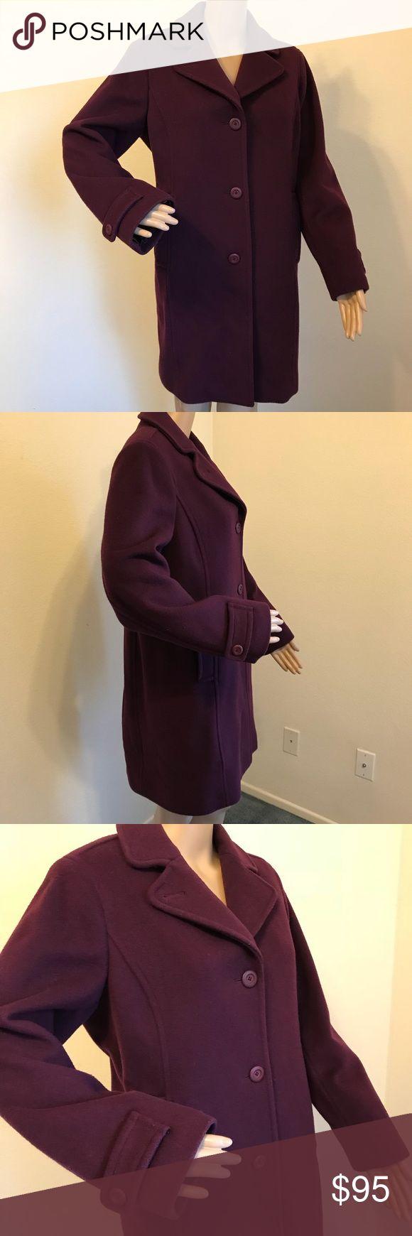 L.L.Bean Lambswool Coat Size 10 Bellandi Italy Beautiful