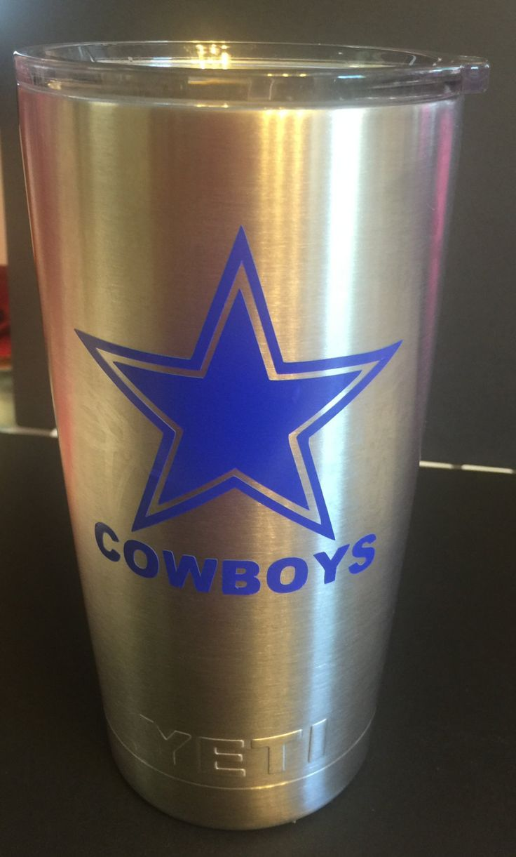 Cowboys Inspired Star Personalized Yeti Tumbler | Cowboys ...