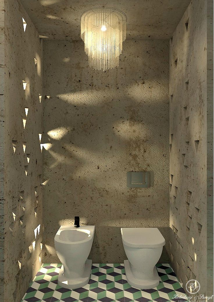 Modern classic and orginal bathroom by Kolodziej & Szmyt/ Concrete wall
