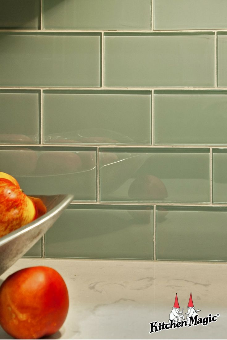 Glass subway backsplash most homeowners are taking the