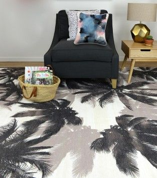 SPRING PALMS FLOOR RUG | HOMEWARES | HUNTERS & GATHERERS