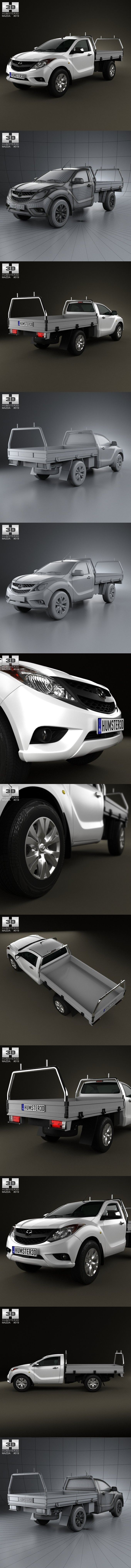 Mazda BT-50 Single Cab 2012. 3D Vehicles