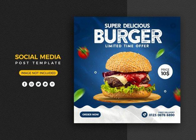 Pin On Food Social Media Post Template