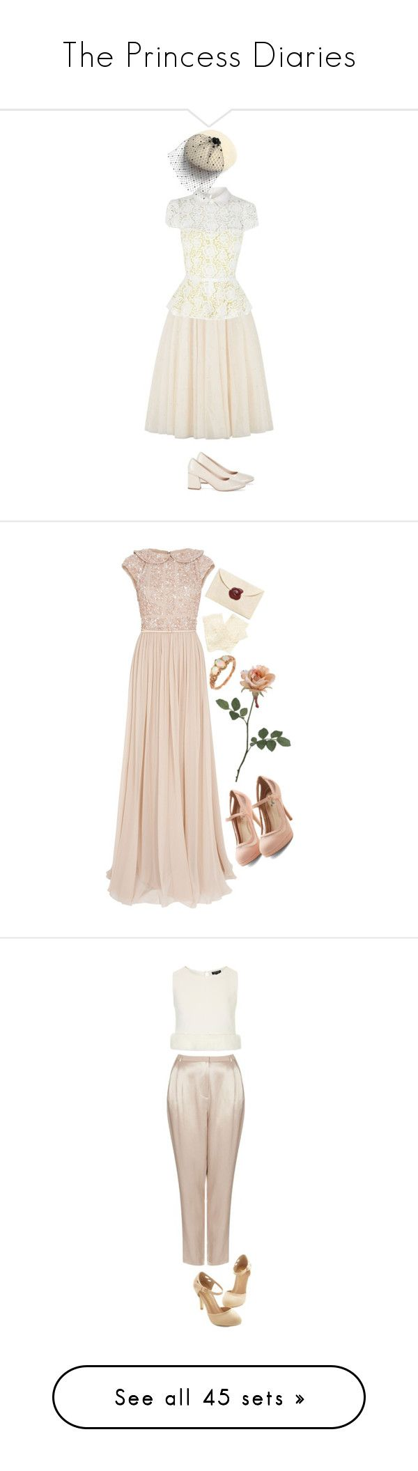 """""""The Princess Diaries"""" by patpotato ❤ liked on Polyvore featuring Ted Baker, Karen Millen, Anne-Sophie Coulot, Sole Society, Elie Saab, Accessorize, Trilogy, Topshop, Miss Selfridge and New Look"""