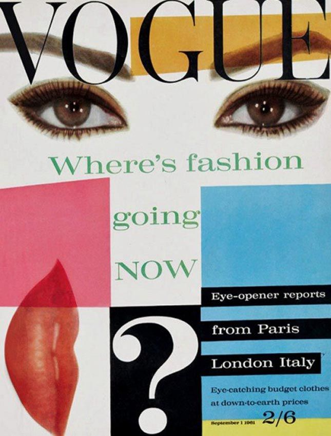 vintage british vogue 1960s