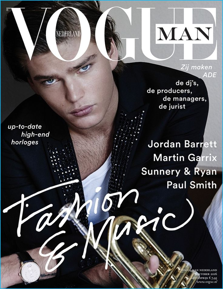 Photographed by Paul Bellaart, Jordan Barrett covers Vogue Man Netherlands.