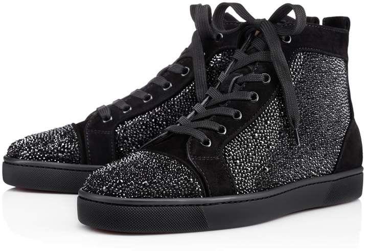Louis Strass Men's Flat Black Strass Men Shoes Christian
