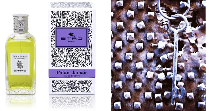 Palais Jamais - Etro Fragrance      Note di testa Bergamotto, Mandarino, Petit grain, Gelsomino     Note di corpo Betulla, Salvia, Muschio     Note di fondo Muschio di quercia, Vetiver     Formati 100 ml