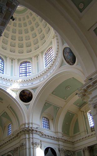 Urbino Italy,  Duomo interior of the dome
