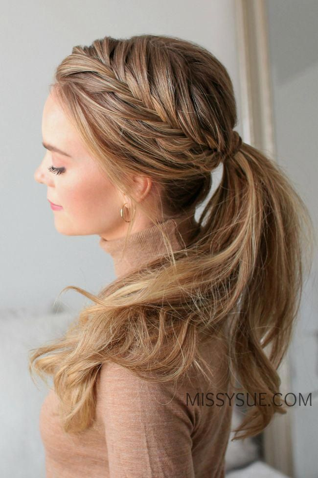 This Has Always Been One Of My Favorite Hairstyles I Posted A Picture Of This Style Rece Braided Ponytail Hairstyles French Braid Ponytail Ponytail Hairstyles