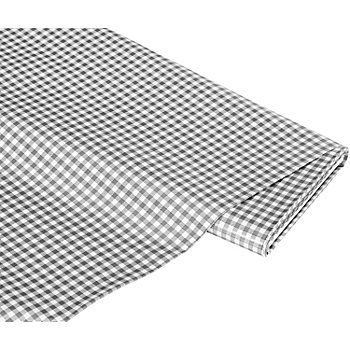 Abwaschbare Tischwäsche - Wachstuch Mini-Karo mit textiler, weißer Rückseite. Das Design eignet sich auch hervorragend für trendige Taschen in vielen Variationen und für klassische Tischwäsche. Farbe: grau/weiß, Karogröße: 5 x 5 mm, Breite: 140 cm, Gewicht: ca. 315 g/m². Material: Grundmaterial: 100 % Polypropylen, Beschichtung: 100 % Polyvinylchlorid.