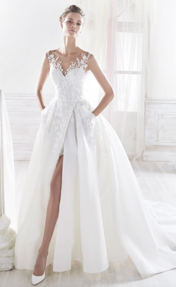 Courtesy of Nicole Spose Wedding Dresses; www.nicolespose.it; Wedding dress idea.