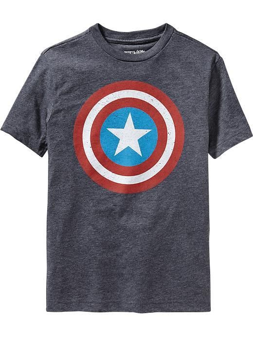 Old Navy Boys Marvel Comics Captain America Tees Size M