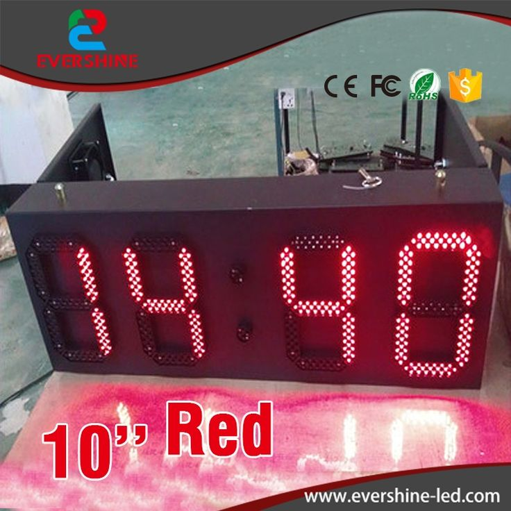 217.66$  Watch here  - Red Color Outdoor Weatherproof Down Timer Clock LED Sign Display for 10 inch