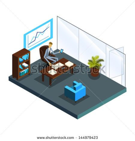 isometric office - Cerca con Google