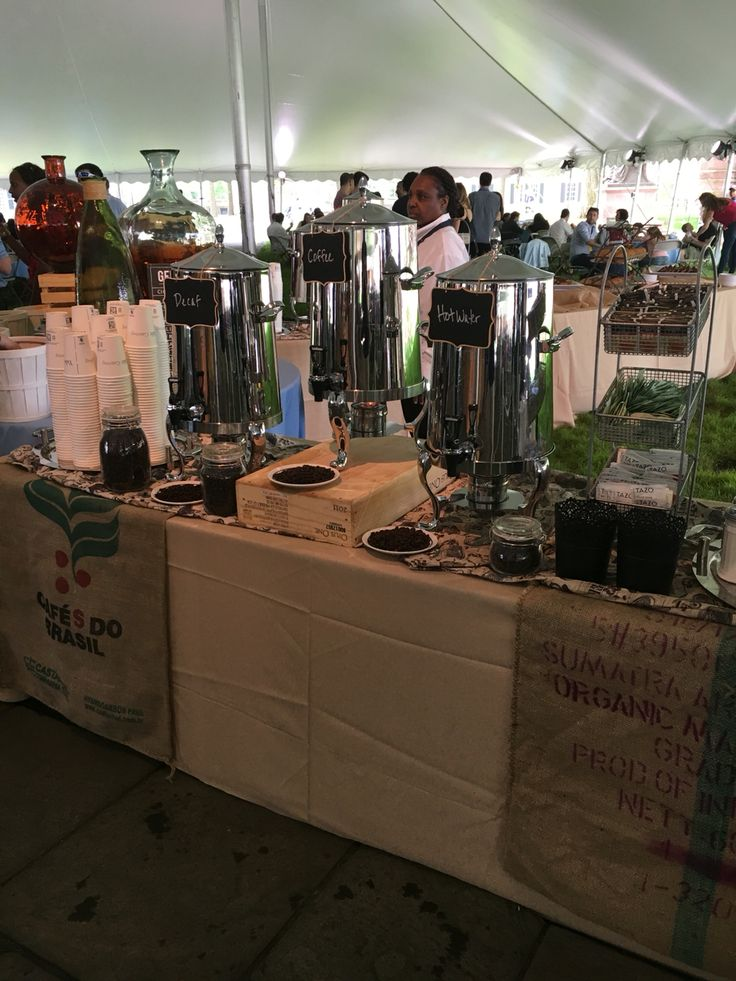 Outdoor Catering Coffee Station #yalehospitality