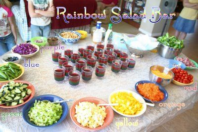Have a salad bar at your party.