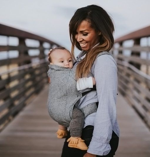 Happy Baby Carrier - a stylish soft structure carrier made with linen.