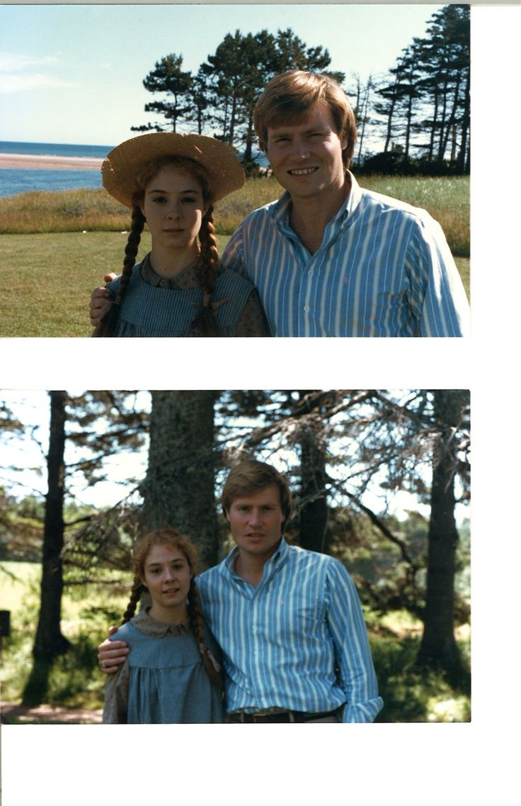 Kevin Sullivan  Megan Follows pose for photos while shooting #anneofgreengables in PEI. #TBT