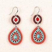 Senoria Basket Earrings Native American by HonoringMotherEarth