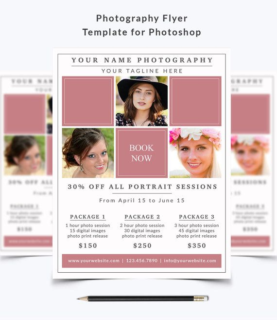 Photography Flyer Template  For Photoshop By Nmdesignstudioshop