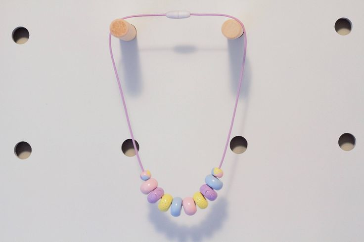 Kids Fashion Necklace Pastel by thirteensixteen on Etsy