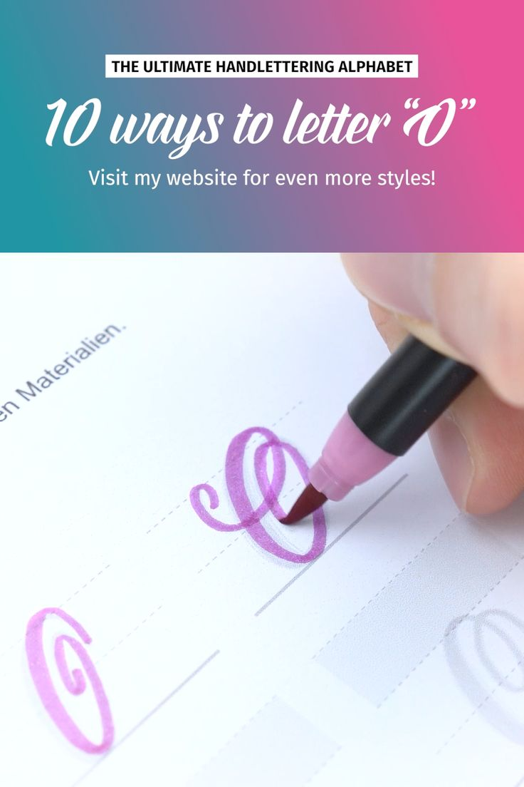 "10 ways to letter ""O"" 