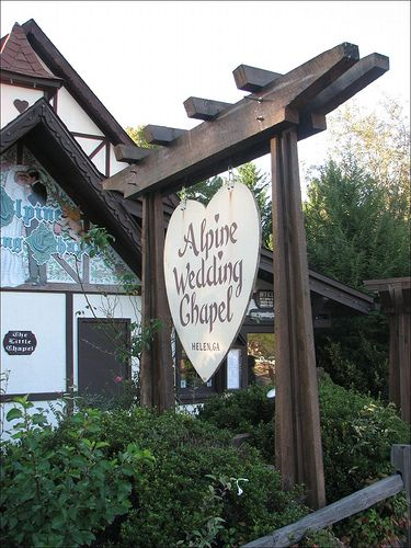 Looking For A Fun And Interesting Venue Try The Alpine Wedding Chapel Quaint Cute Memorable Helen Georgia