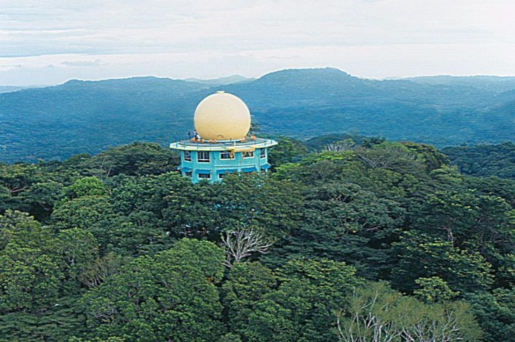 HelicopterviewoftheTower  in the middle of the forest in Panama