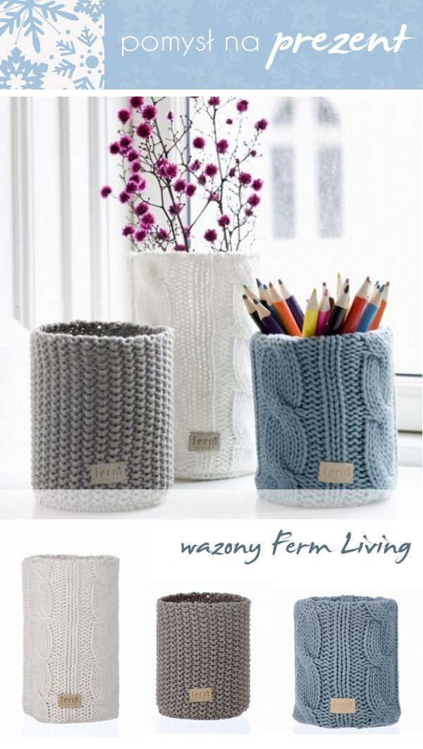 Ferm living knitted vase