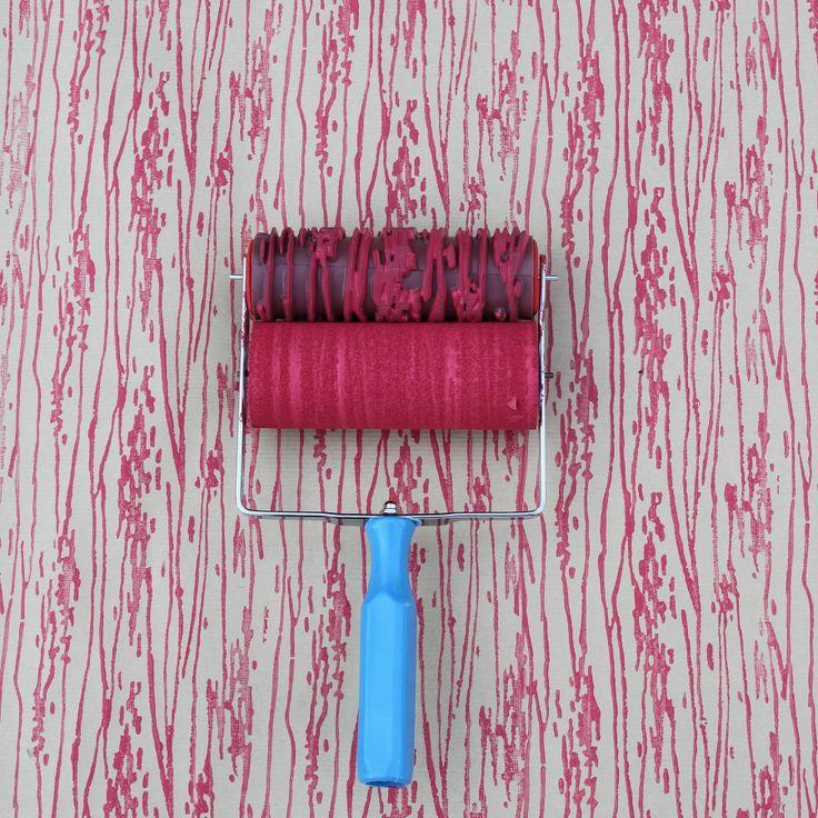 Wood Grain Patterned Paint Roller by NotWallpaper