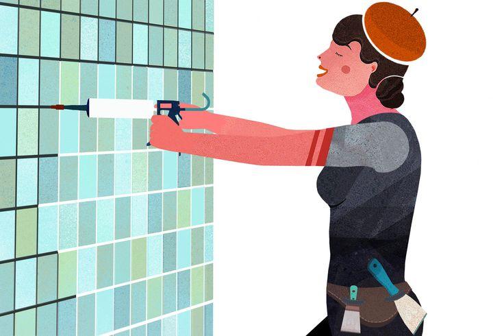 Badezimmer Tapete Fliesen : Badezimmer Tapete auf Pinterest Edle Tapeten, Tapeten und Badezimmer
