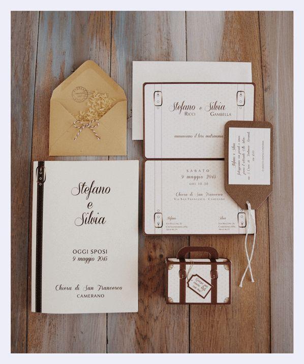 Wedding invitation Travel theme