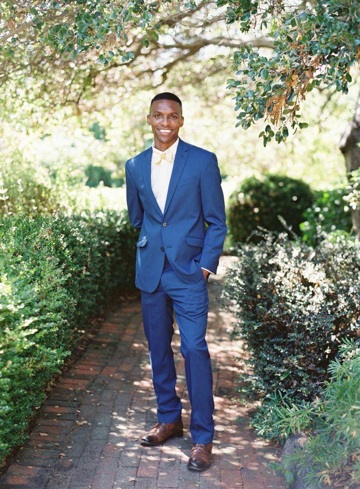 Royal Blue Groom's Suit