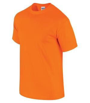ULTRA COTTON® T-SHIRT, Safety Orange. #2000. For details on how to order this item with your logo branded on it contact ww.fivetwentyfour.ca #promoitems #promoproducts #Highvis  #safetytshirt