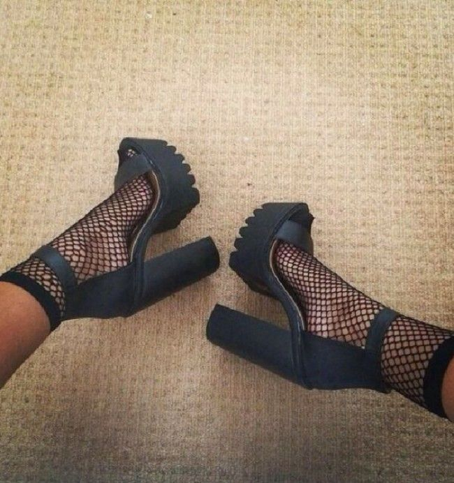 Asos oversized fish net ankle socks. at asos #Shoes #buyable