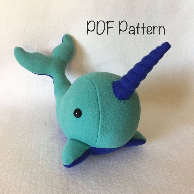 Narwhal Plush PATTERN and instructions narwhal pattern