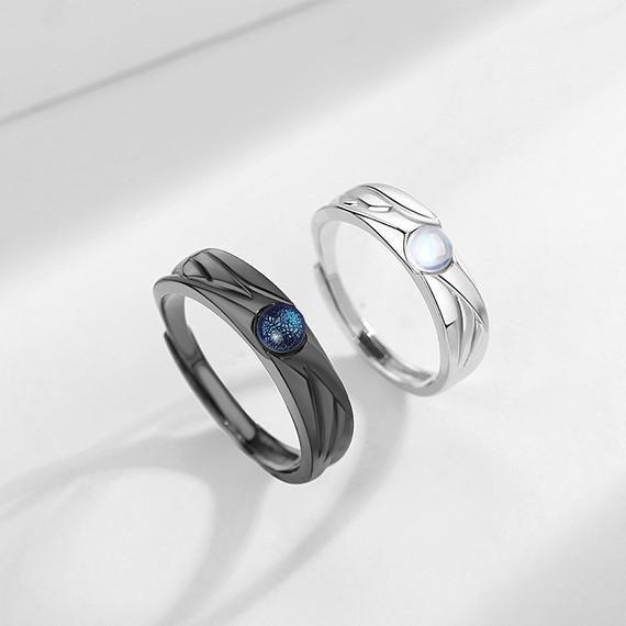 Angels Vs Devils Matching Couple Rings Demon Rings Couples Ring Set Matching Couple Rings Black Rings