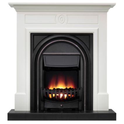 Be Modern Dalston Flat Against Wall Electric Fire Suite: Image 1