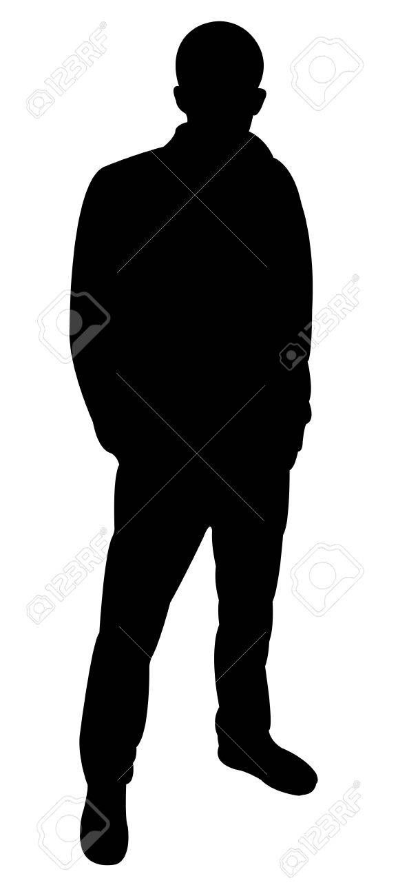 Standing Man Silhouette Vector Illustration Affiliate Man Standing Silhouette Illustration Vector Silhouette Art Silhouette Vector Silhouette