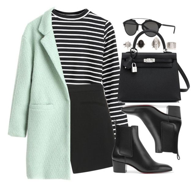"""""""Sin título #13513"""" by vany-alvarado ❤ liked on Polyvore featuring Elie Saab, Christian Dior, Hermès and Christian Louboutin"""