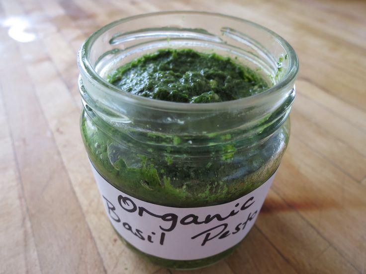 Basil pesto  olive oil, lemon,  Himalayan salt, (1 garlic clove), chopped finely (or more for a little extra zing) 1 teaspoon of spirulina powder