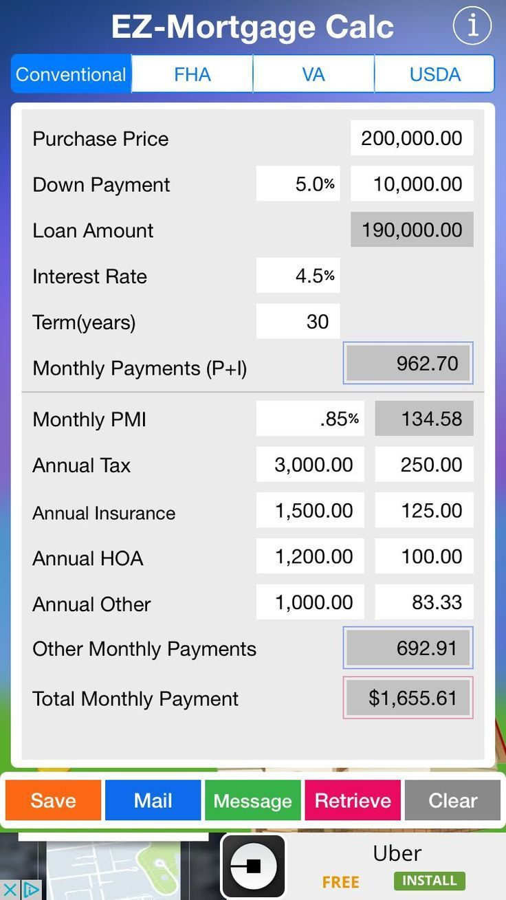 This Is A Screen Shot Of Mortgage Calculator For Realtors