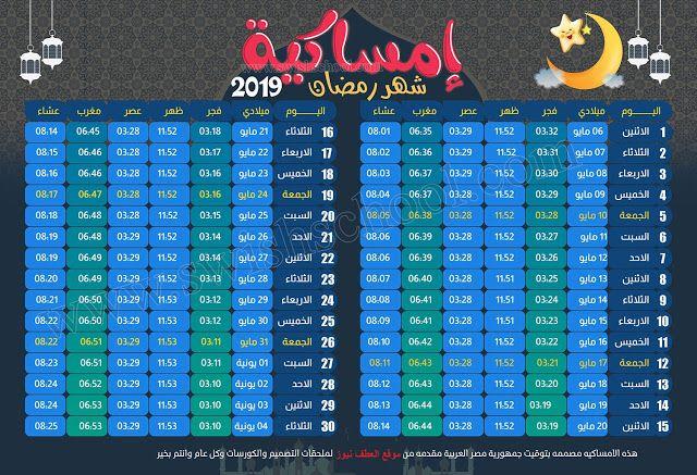 موعد اذان المغرب فى كل محافظات مصر Ramadan Website Resources